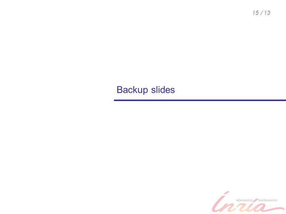 / 1315 Backup slides