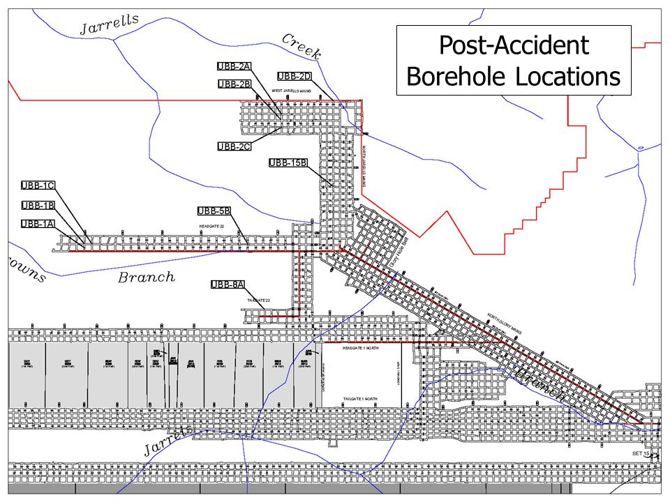 17 Post-Accident Borehole Locations