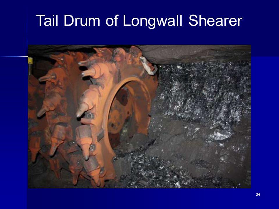 34 Tail Drum of Longwall Shearer