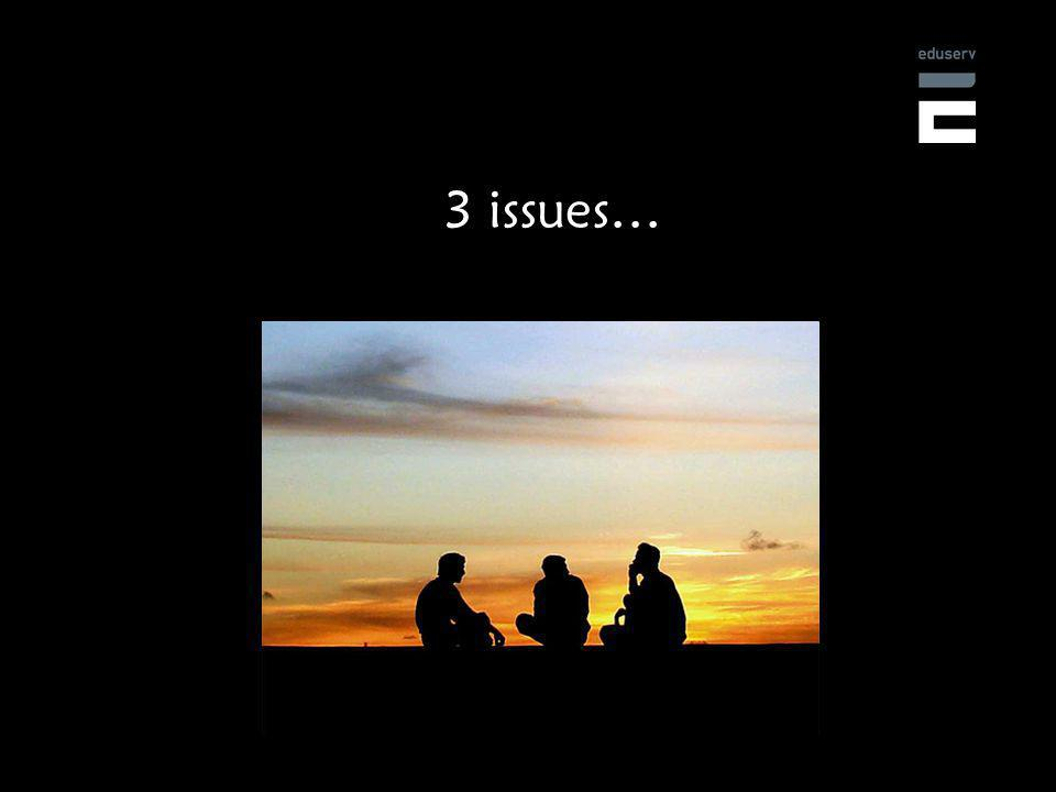 3 issues…