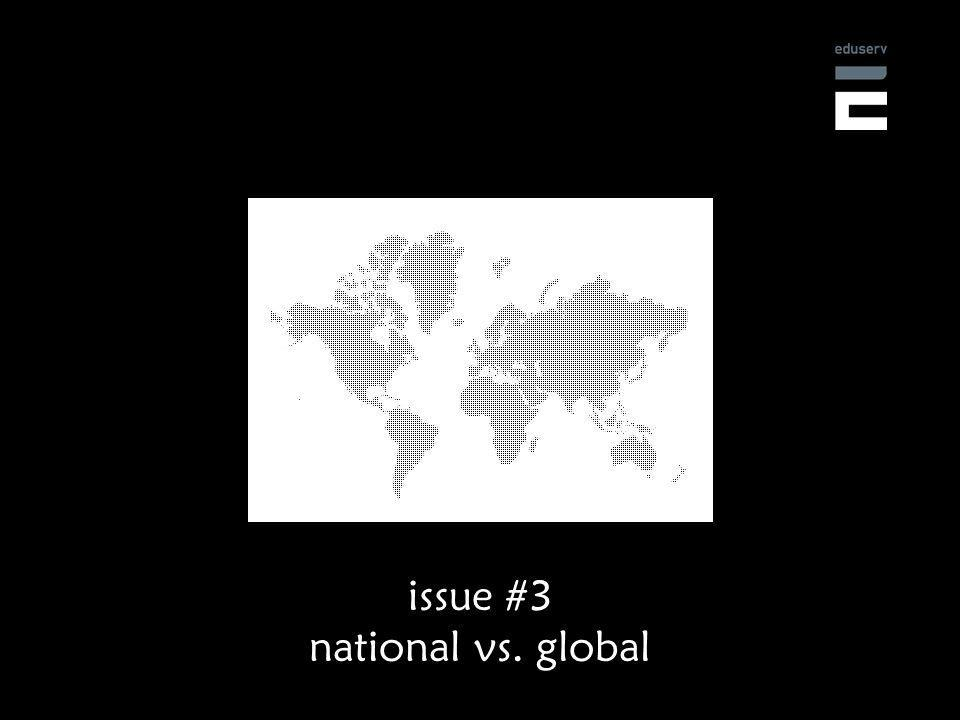 issue #3 national vs. global