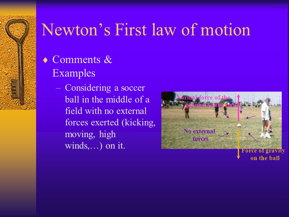 Newtons First law of motion Involving Friction Answer & explanations –We know that the magnitude of the force of gravity is mg. We recognize that the