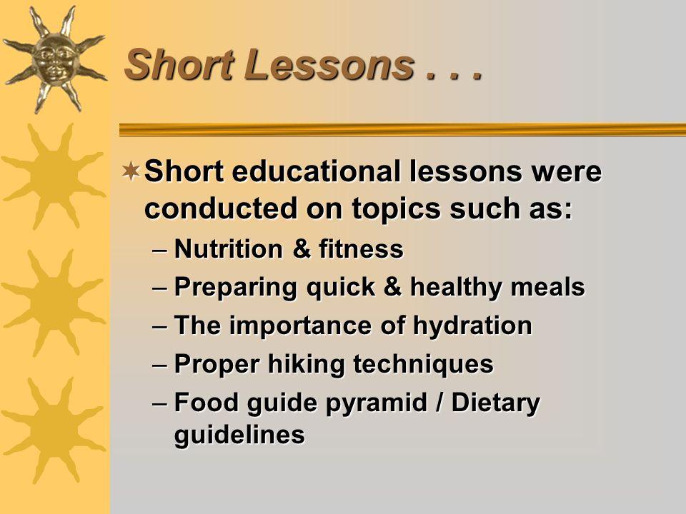 Short Lessons...