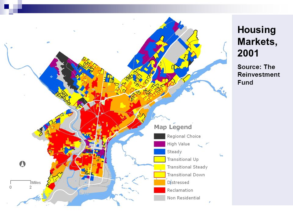 Housing Markets, 2001 Source: The Reinvestment Fund