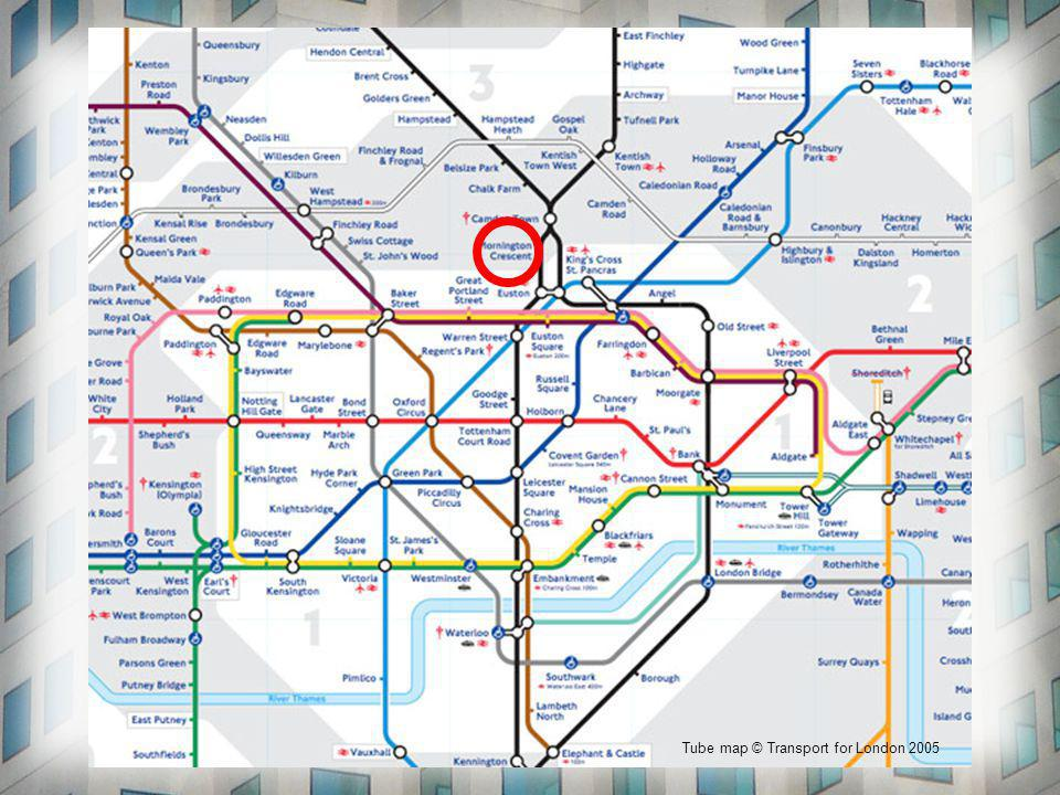 Tube map © Transport for London 2005