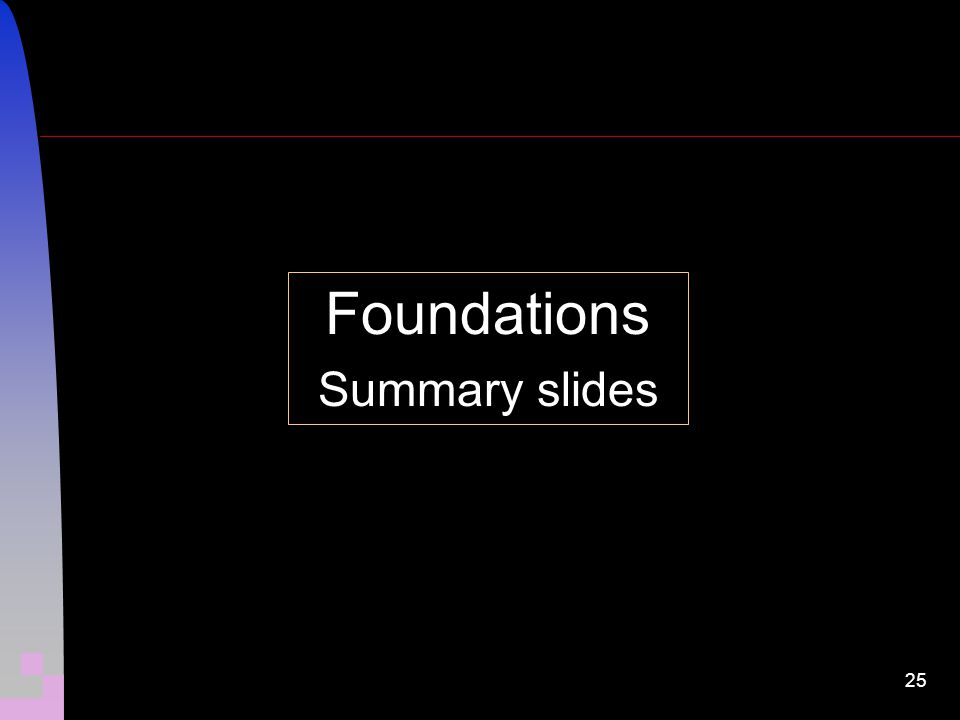 25 Foundations Summary slides