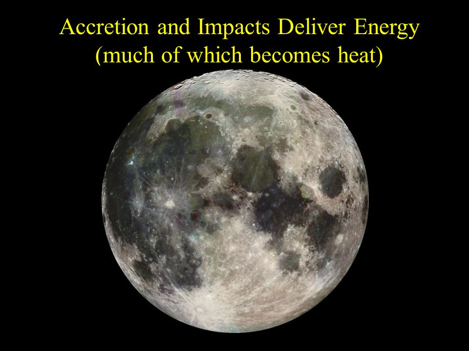 Accretion and Impacts Deliver Energy (much of which becomes heat)