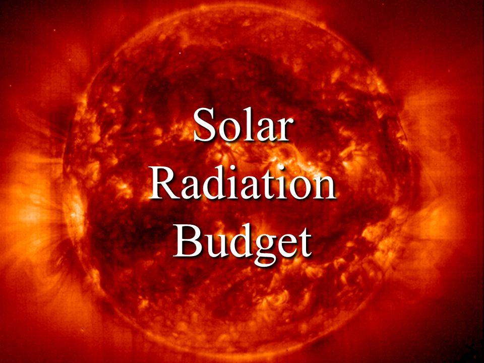 Solar Radiation Budget