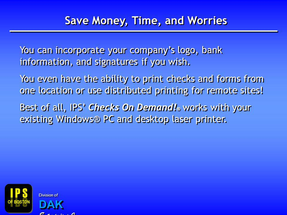 Save Money, Time, and Worries You can incorporate your companys logo, bank information, and signatures if you wish.