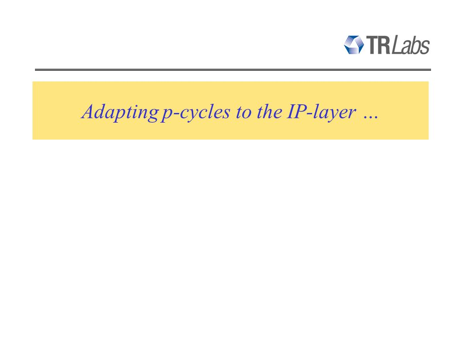 Adapting p-cycles to the IP-layer …