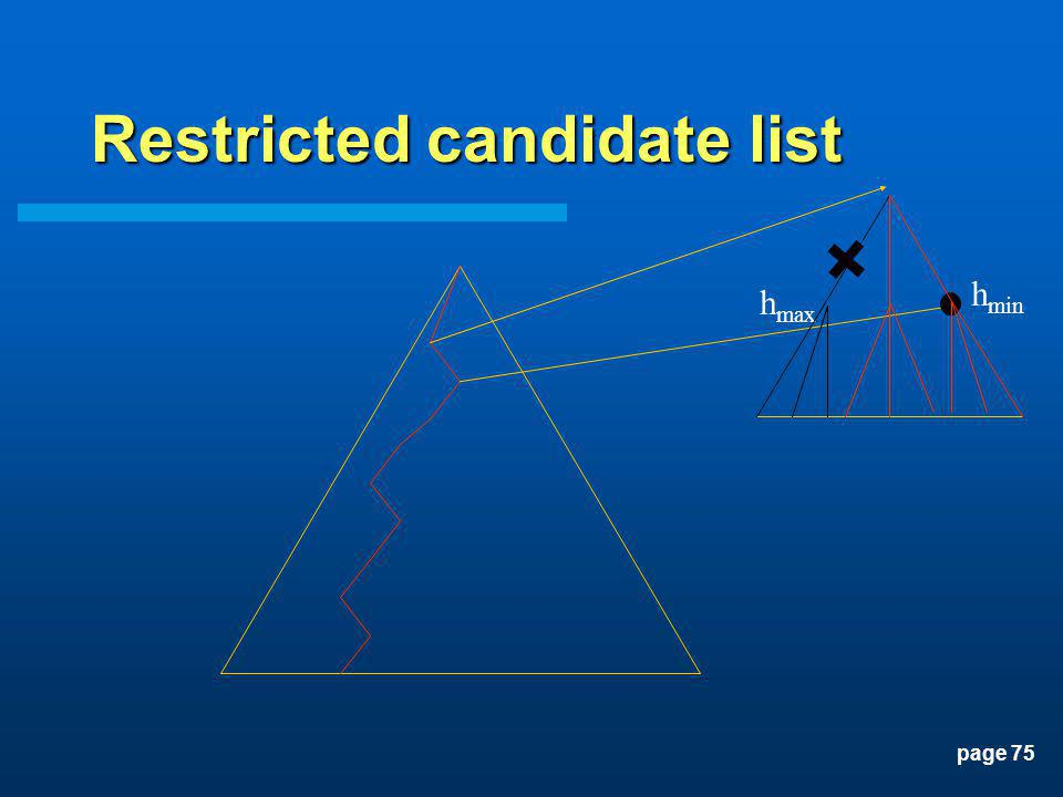 page 75 Restricted candidate list h min h max
