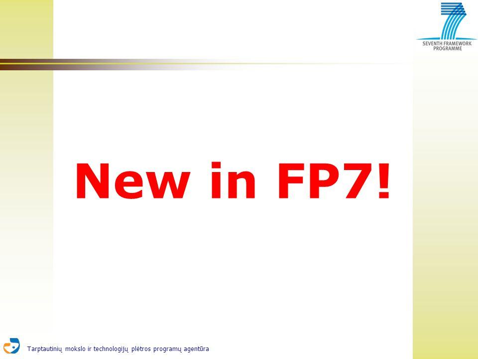 Tarptautinių mokslo ir technologijų plėtros programų agentūra New in FP7!