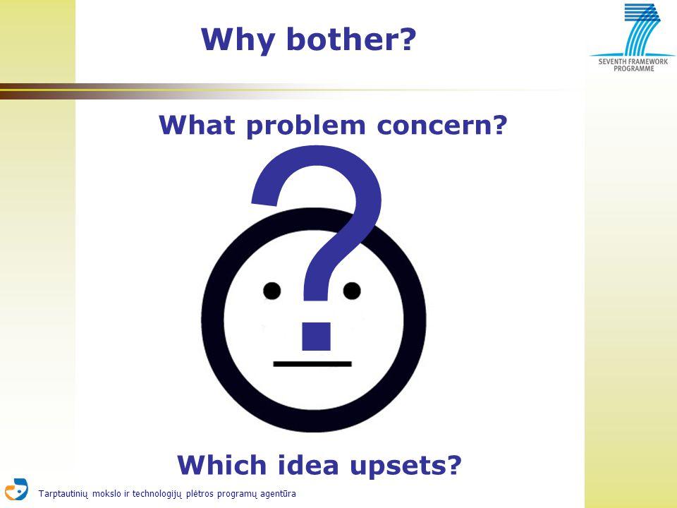Tarptautinių mokslo ir technologijų plėtros programų agentūra Why bother.