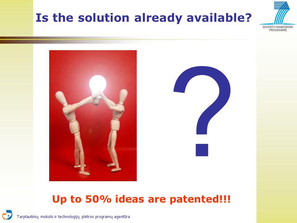 Tarptautinių mokslo ir technologijų plėtros programų agentūra Is the solution already available.