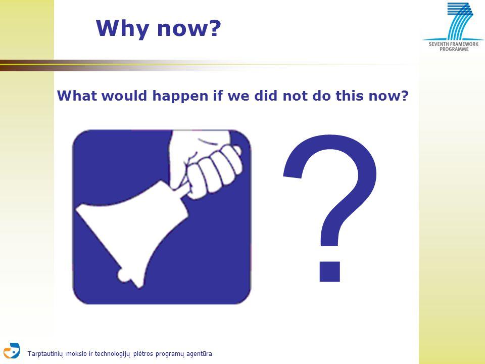Tarptautinių mokslo ir technologijų plėtros programų agentūra Why now.