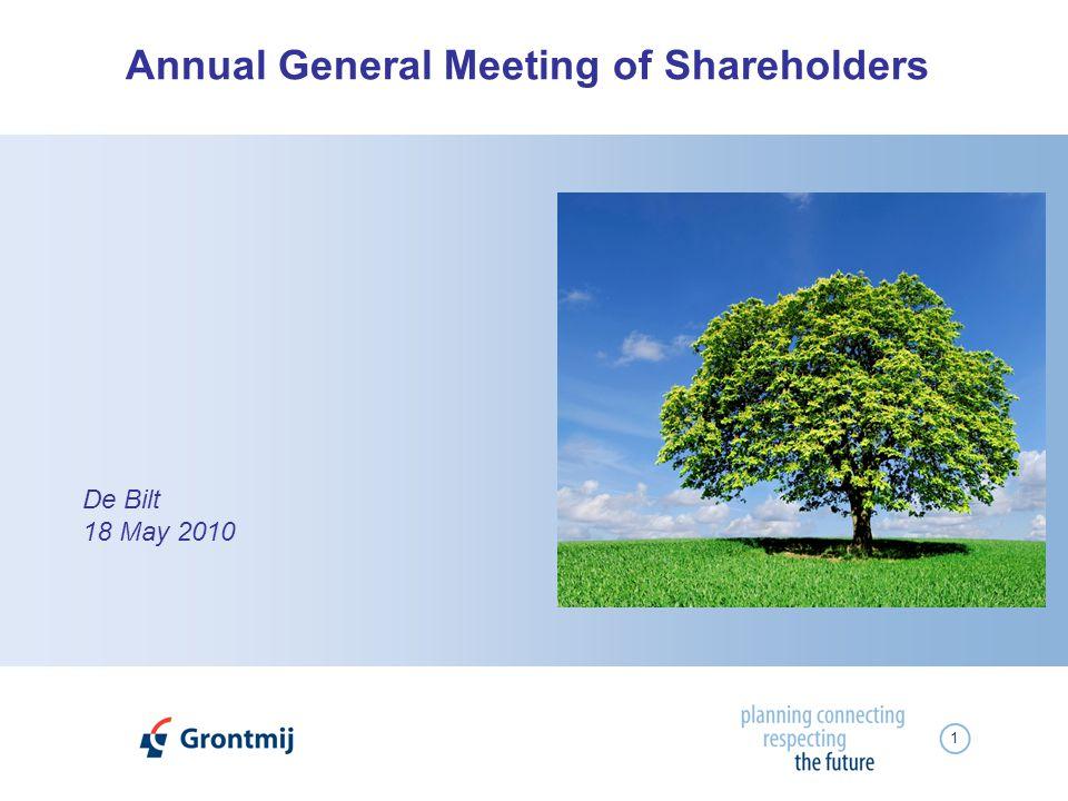 1 De Bilt 18 May 2010 Annual General Meeting of Shareholders