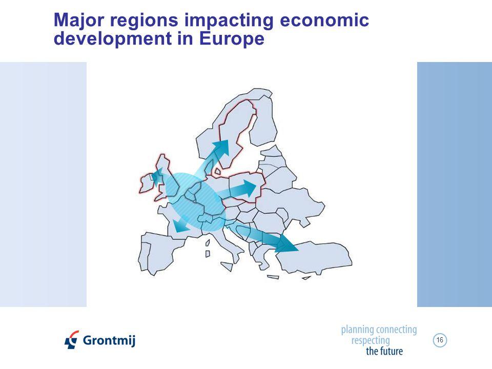 16 Major regions impacting economic development in Europe
