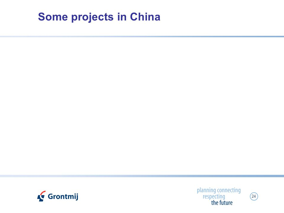 24 Some projects in China