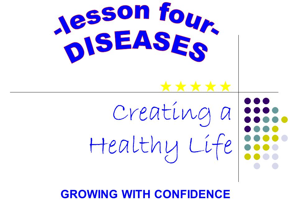Creating a Healthy Life GROWING WITH CONFIDENCE