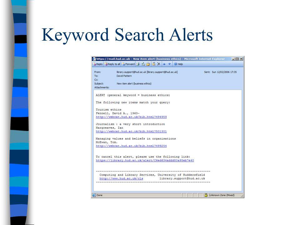 Keyword Search Alerts