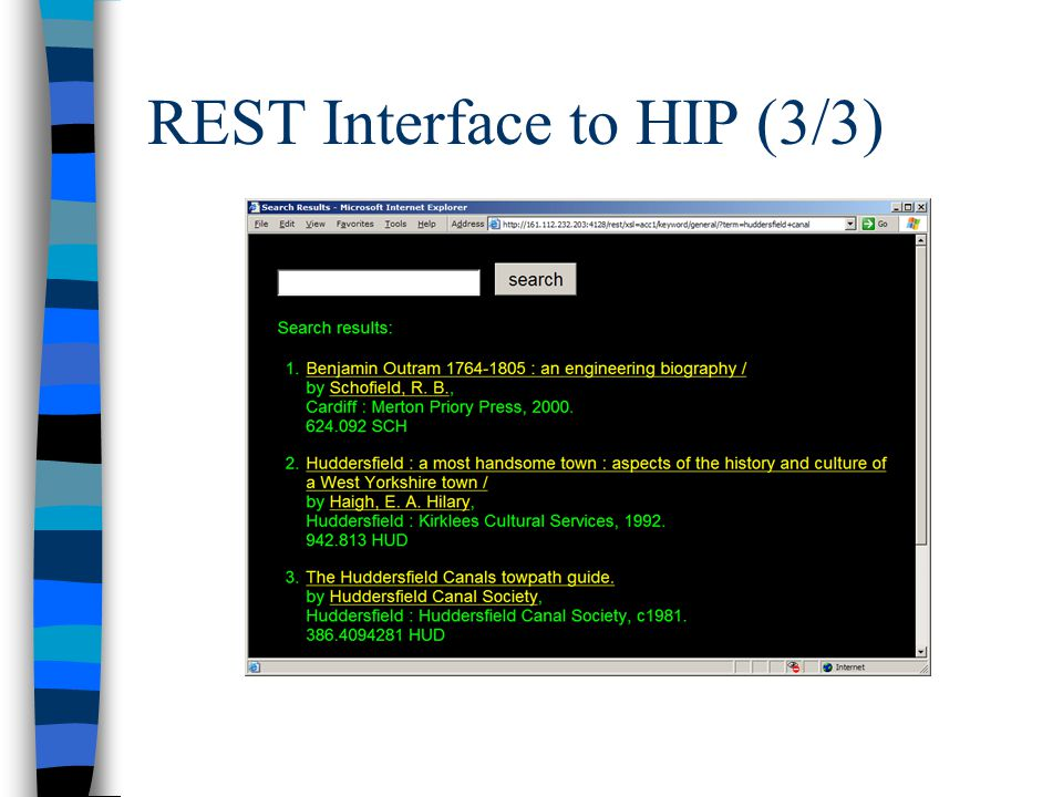 REST Interface to HIP (3/3)