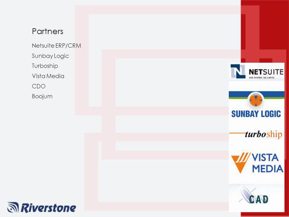 Partners Netsuite ERP/CRM Sunbay Logic Turboship Vista Media CDO Boojum