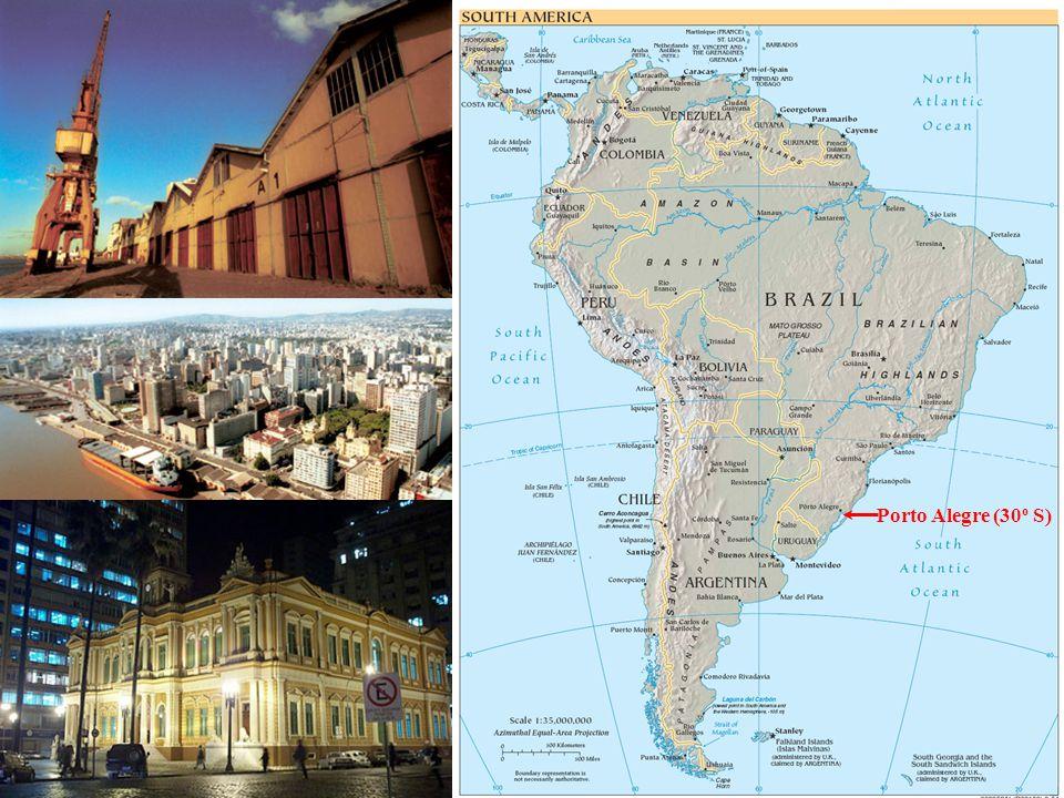 Porto Alegre, Brasil Geography and Pictures Porto Alegre (30 o S)