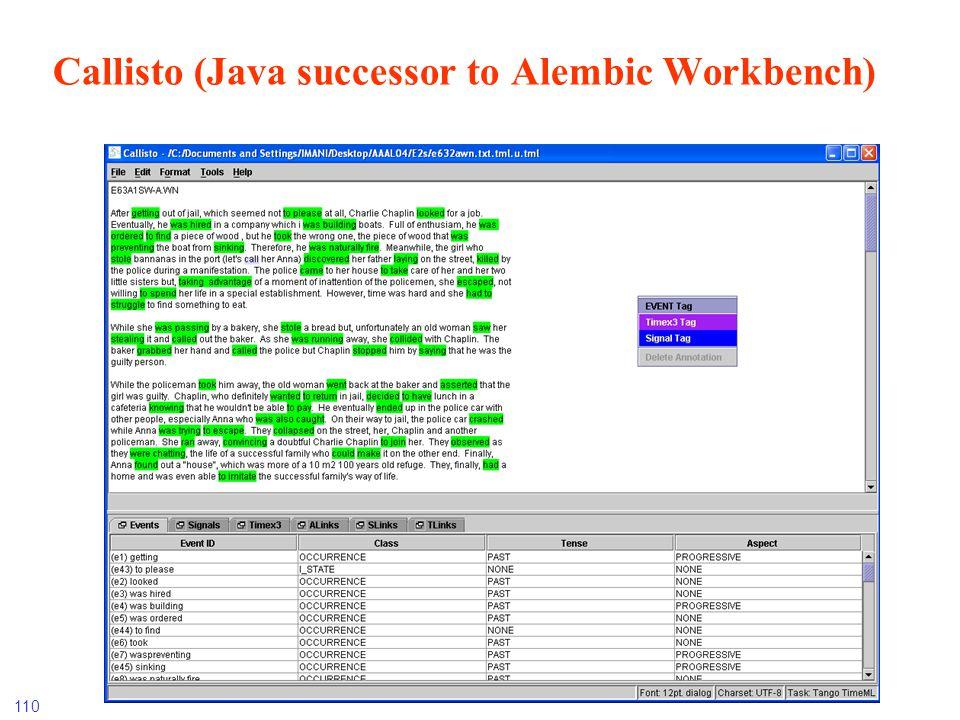 110 Callisto (Java successor to Alembic Workbench)