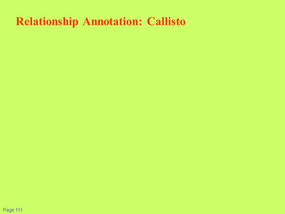 Page 111 Relationship Annotation: Callisto