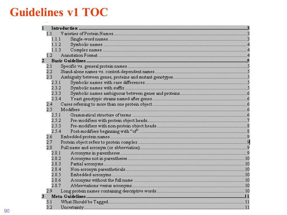 90 Guidelines v1 TOC