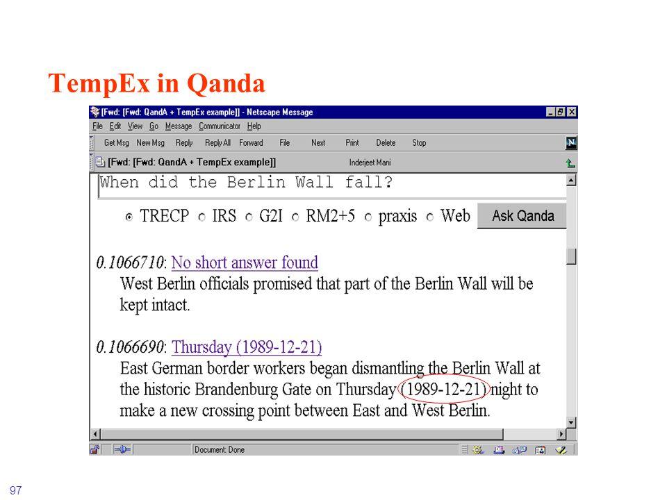 97 TempEx in Qanda