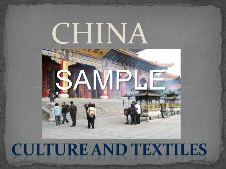 CHINA SAMPLE