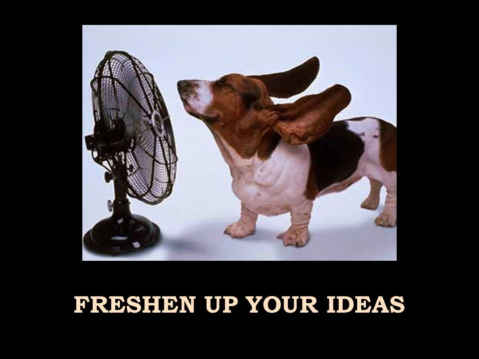 FRESHEN UP YOUR IDEAS