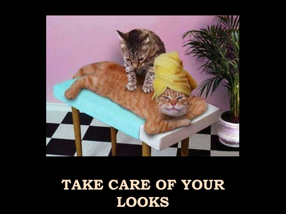 TAKE CARE OF YOUR LOOKS