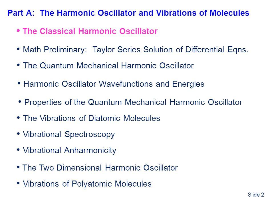 Slide 33 E = ½x 0 2 x P(x) 0 +x 0 -x 0 Classical Turning Points Quantum Mechanical vs.