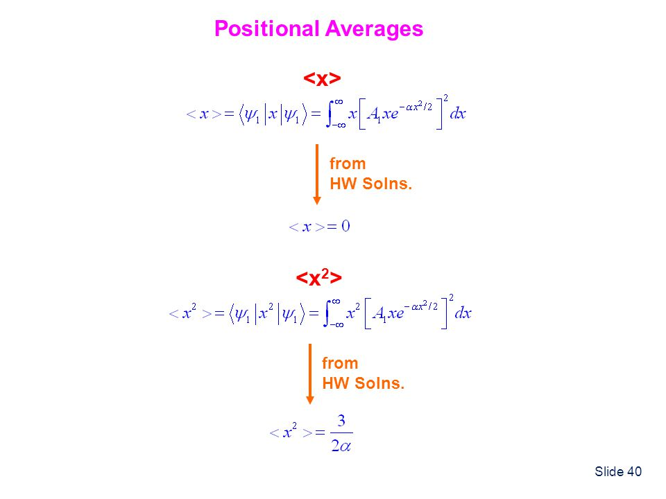 Slide 40 Positional Averages from HW Solns. from HW Solns.