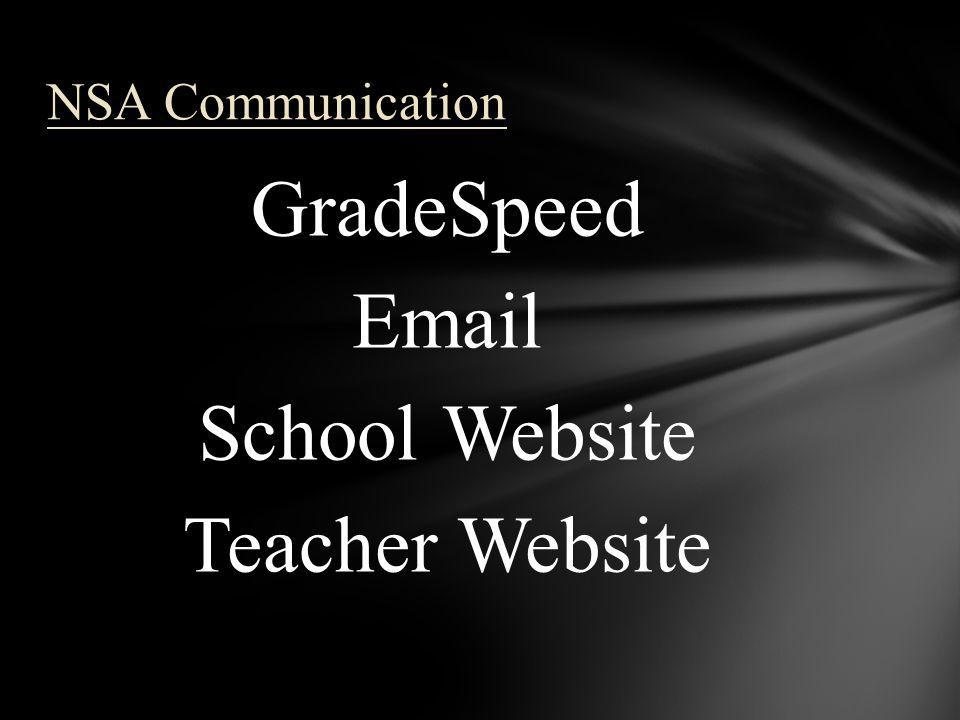 GradeSpeed Email School Website Teacher Website NSA Communication