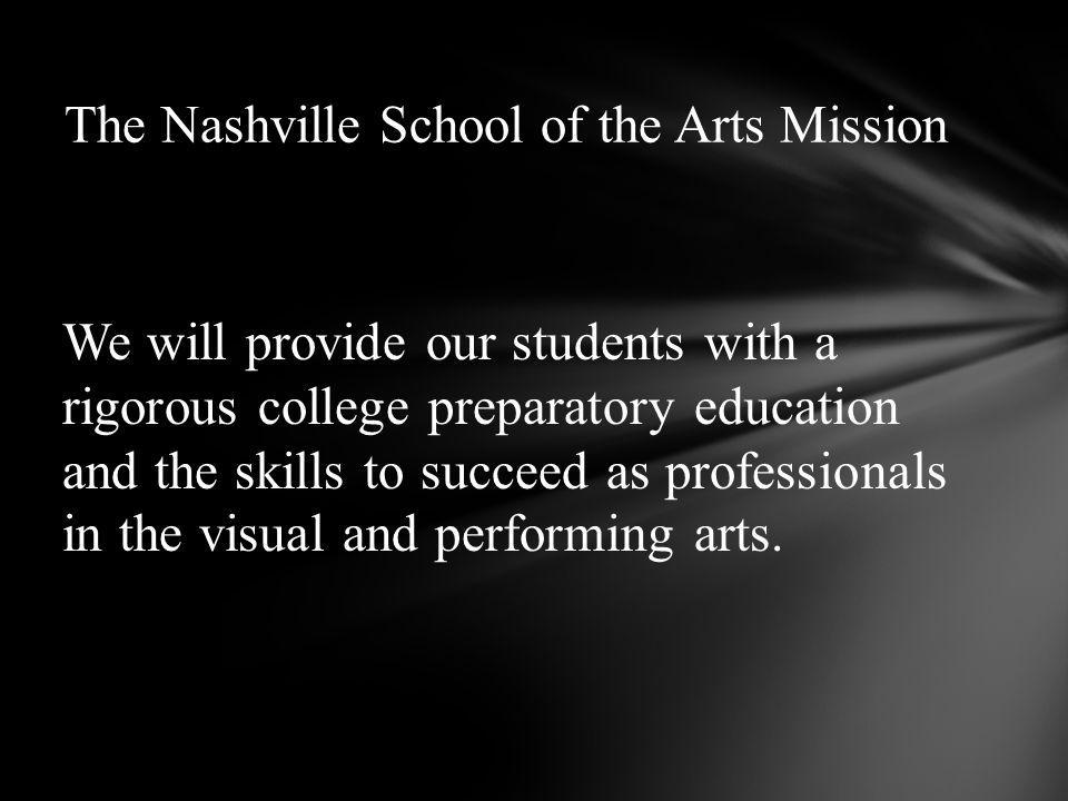 We will provide our students with a rigorous college preparatory education and the skills to succeed as professionals in the visual and performing arts.