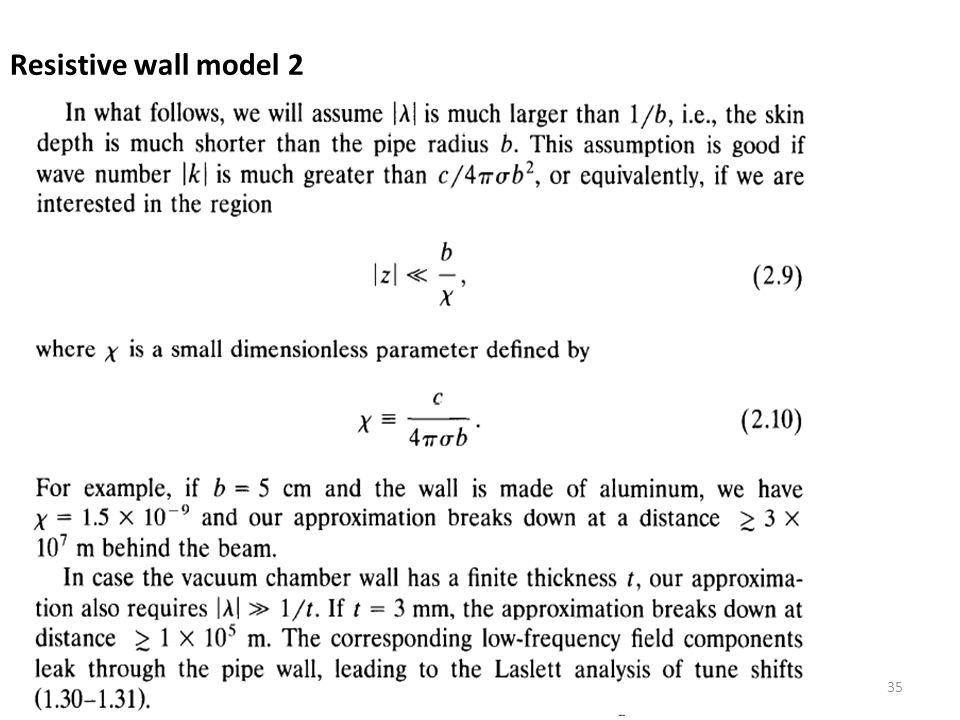 Resistive wall model 2 35