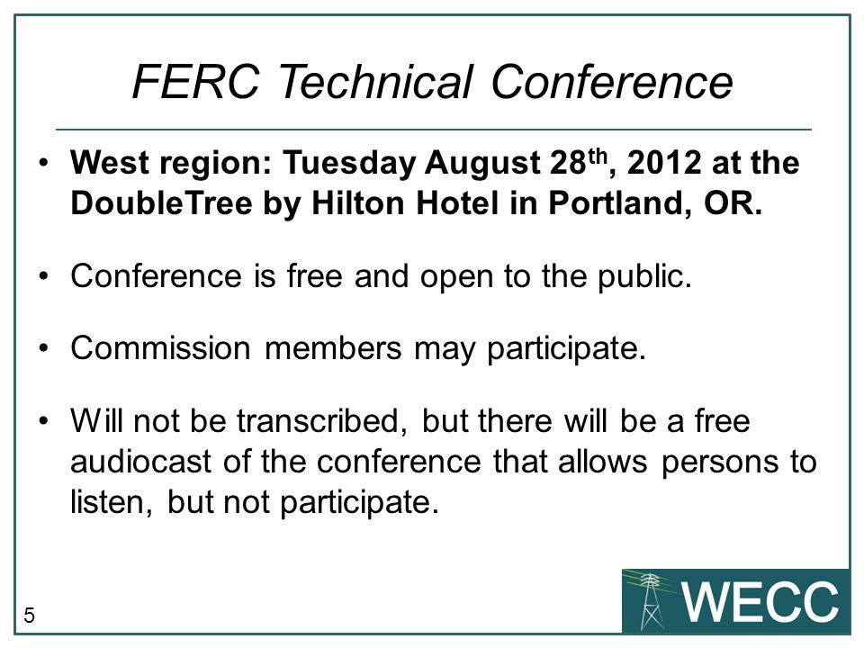 5 West region: Tuesday August 28 th, 2012 at the DoubleTree by Hilton Hotel in Portland, OR.