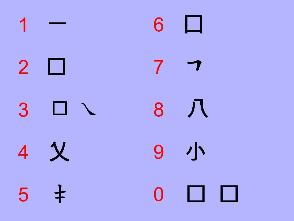 Input Coding 4represents a cross.5represents a falling stroke runs through 2 horizontal strokes.