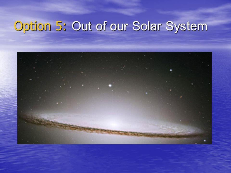 Option 5: Out of our Solar System