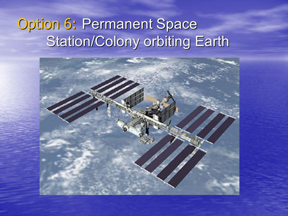 Option 6: Permanent Space Station/Colony orbiting Earth
