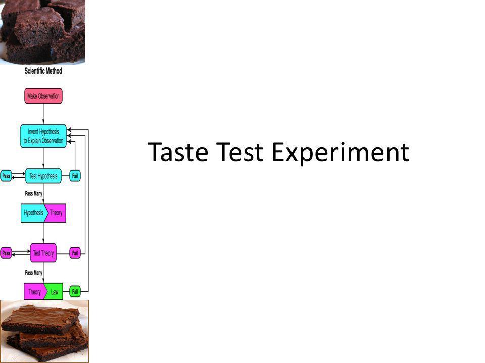 Taste Test Experiment