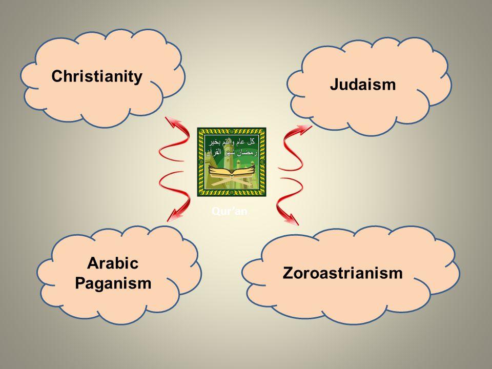 Christianity Judaism Arabic Paganism Zoroastrianism Quran