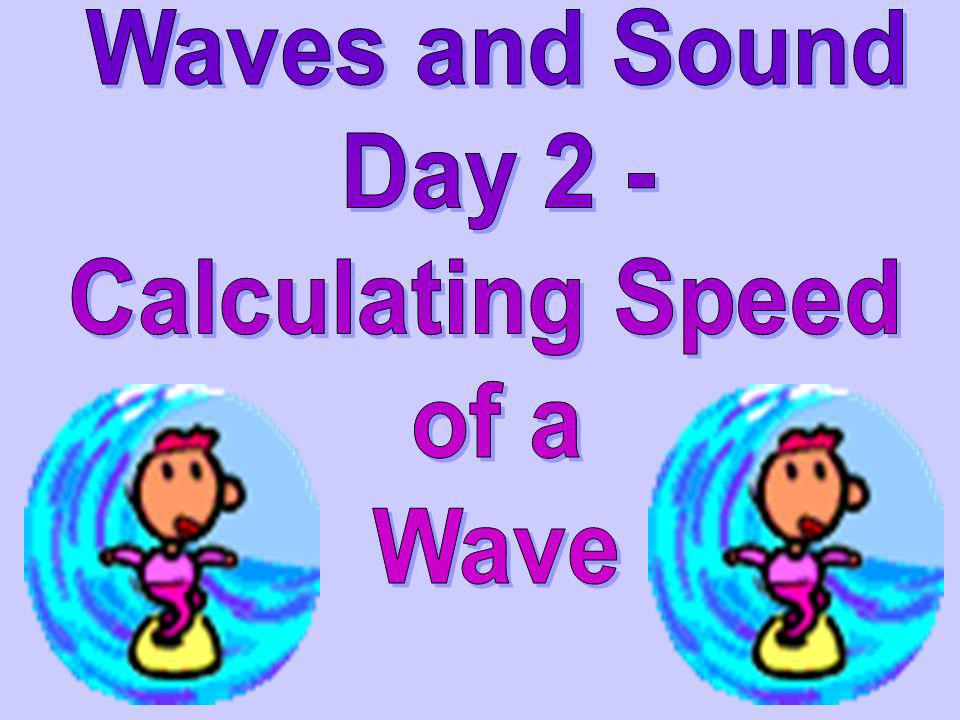Frequency would be3 Hz Frequency would be 3 Hz If 3 waves went by in 1 second… You have 3 waves per Second Frequency Frequency: the # of waves that pa