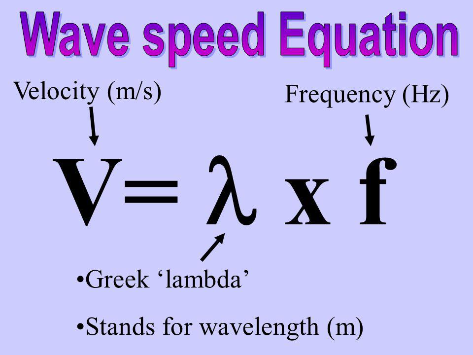 Sound waves travel slower than light waves Speed varies, depending on the medium Air = 340 m/s water= 1440 m/s steel = 5000 m/s