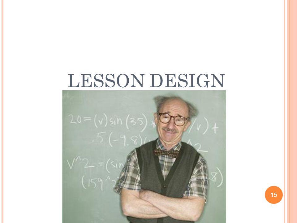 LESSON DESIGN 15