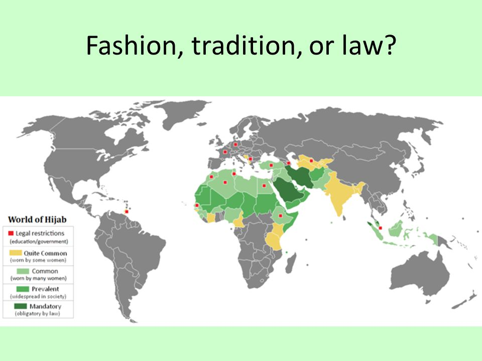 Fashion, tradition, or law?