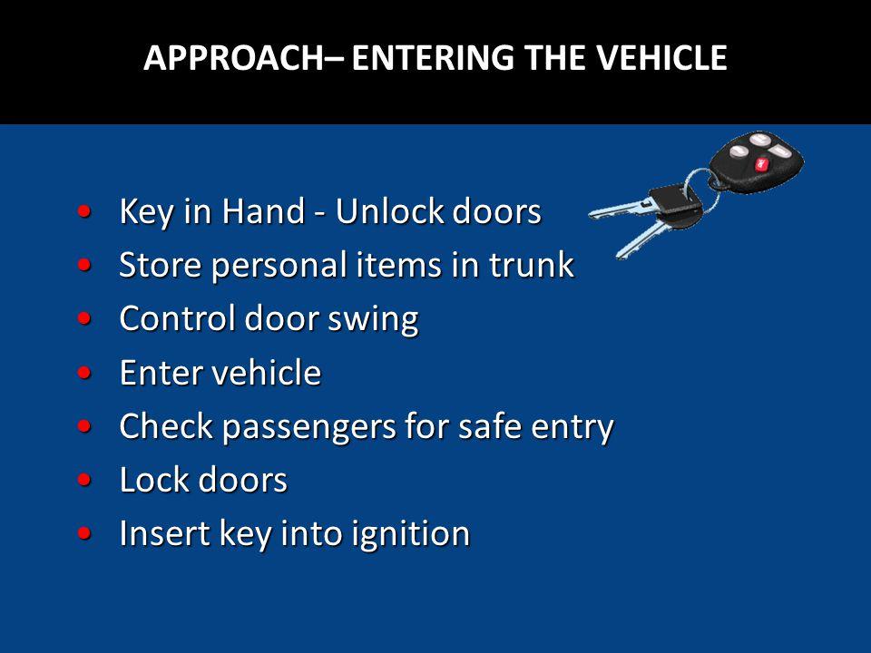 Key in Hand - Unlock doorsKey in Hand - Unlock doors Store personal items in trunkStore personal items in trunk Control door swingControl door swing E